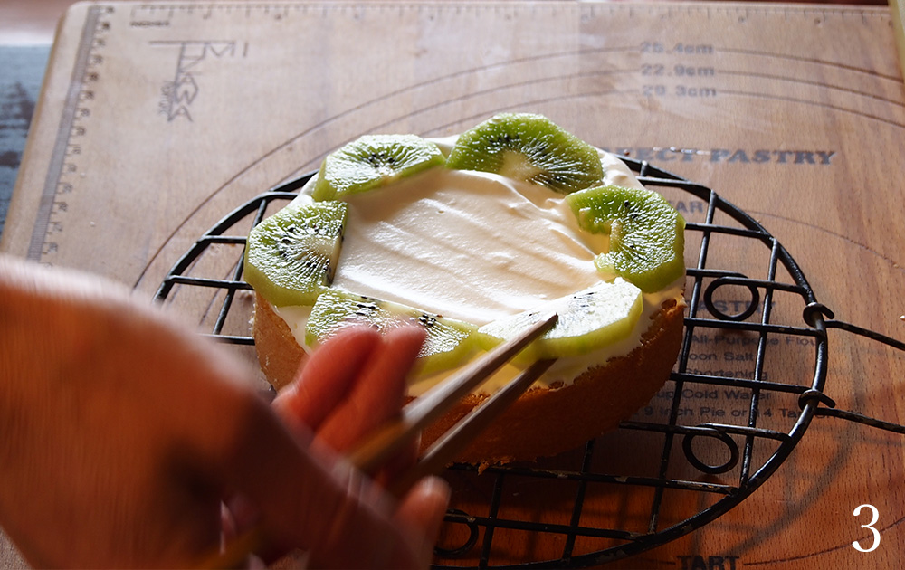 キウイのショートケーキ 作り方03