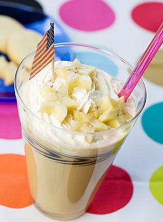 SNOOTEA キャラメルブレンド レシピ バナナパフェ風ミルクティー