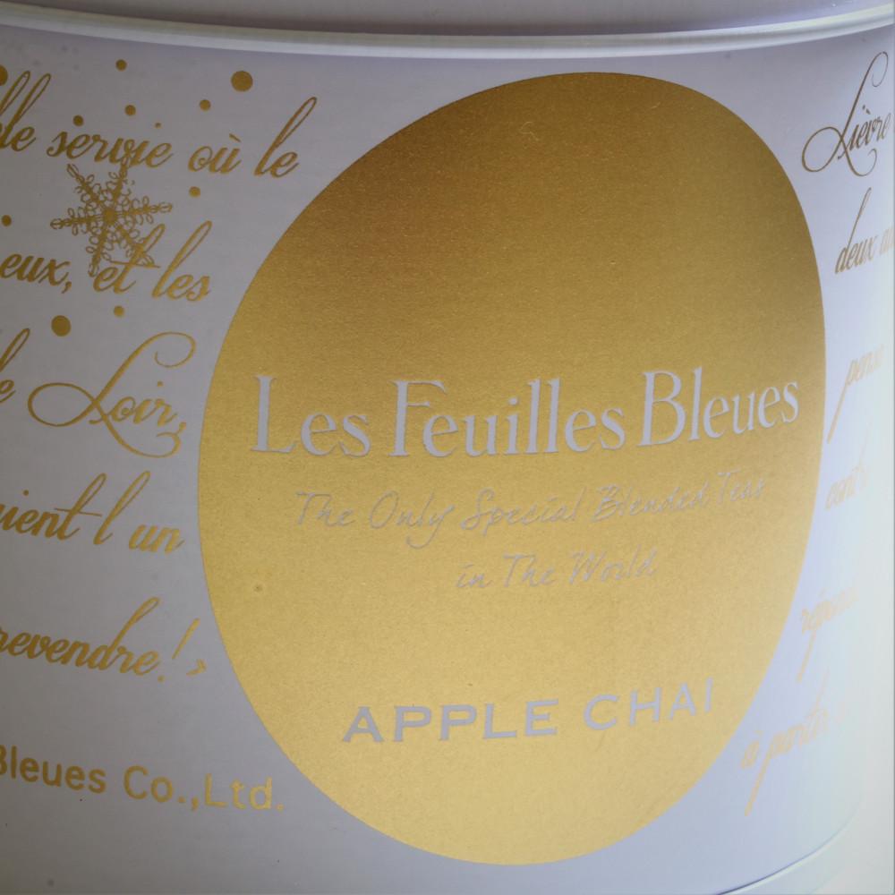 フィーユ・ブルー アップルチャイ 15ティーバッグ缶