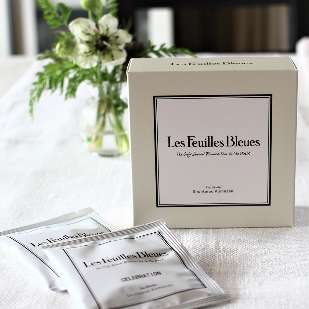 フィーユ・ブルーの10ティーバックボックスと個包装